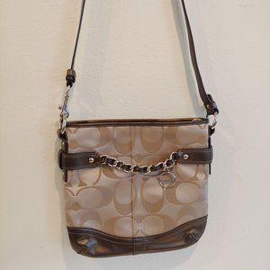 Coach Signature Chain Duffle Handbag